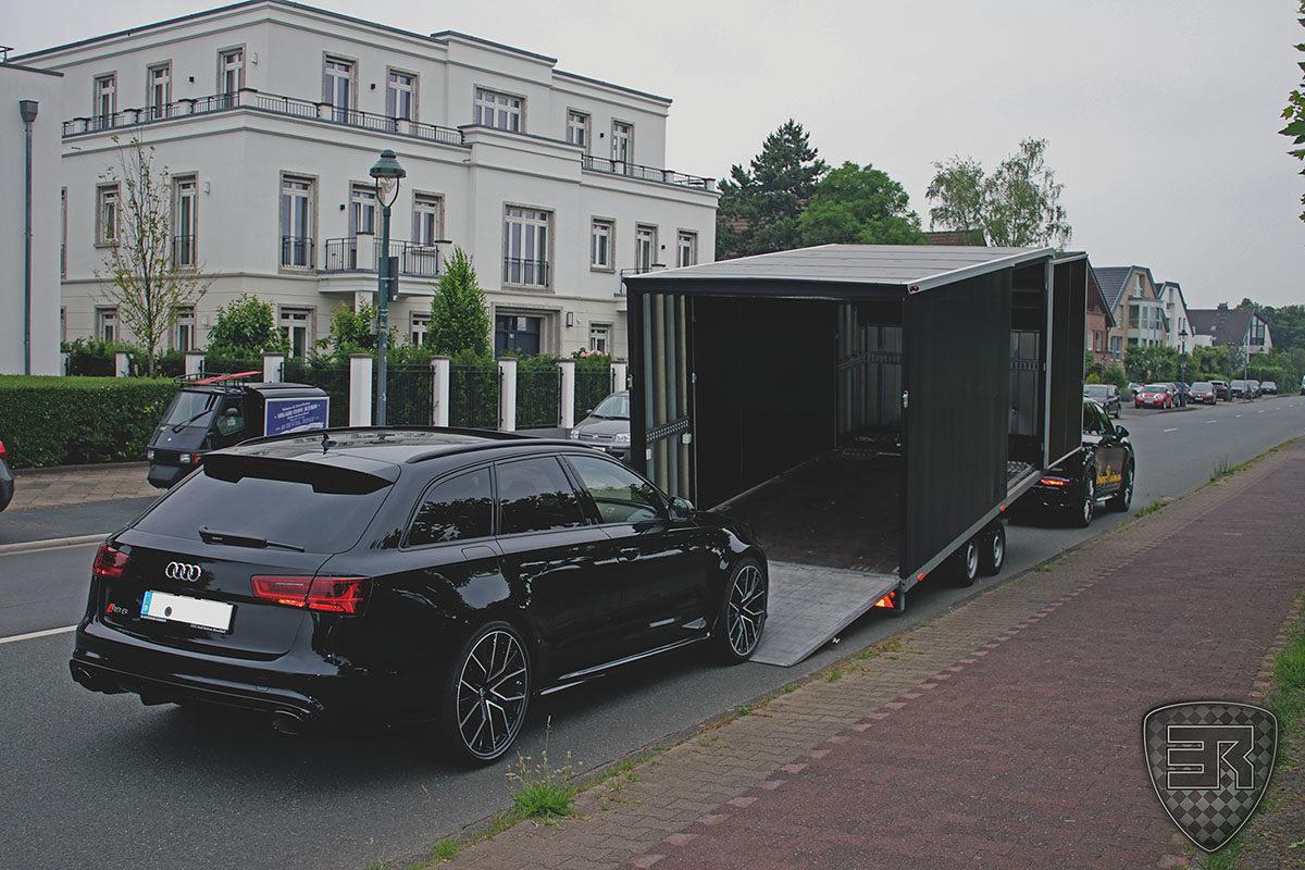 Geschlossener Fahrzeugtransport Audi RS6 1