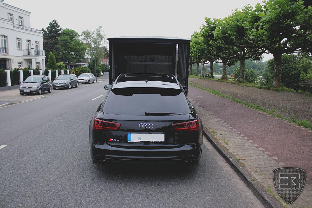 Geschlossener Fahrzeugtransport Audi RS6 2