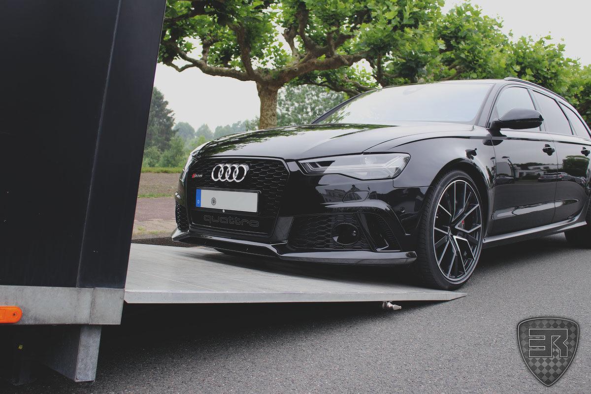 Geschlossener Fahrzeugtransport Audi RS6 3