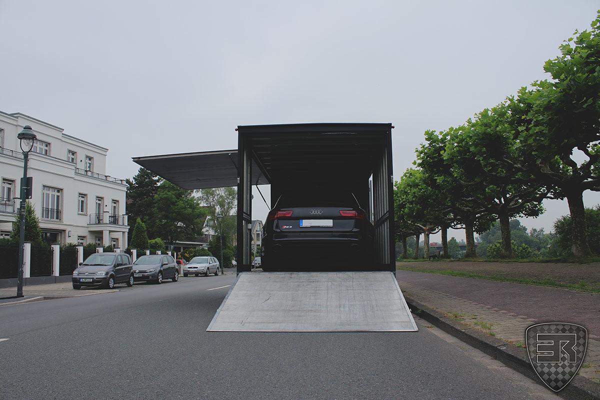 Geschlossener Fahrzeugtransport Audi RS6 4